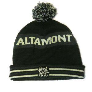 Altamont Beanie Cuffed Pom Black Winter Hat